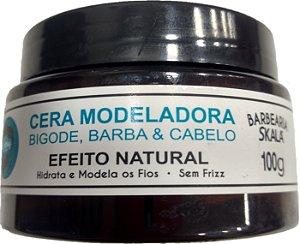 Cera Modeladora Barba, Bigode & Cabelo - Barba's Skala (100g)