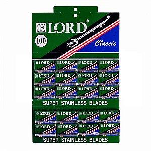 Lâmina de Barbear Lord Verde - 3 Cartelas com 300 Lâminas