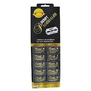 Lâmina de Barbear Derby Premium - 1 Cartela (50 Lâminas)