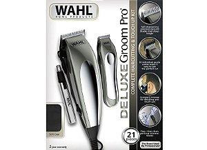 Kit de Corte de Cabelo e Cuidados Pessoais Wahl Deluxe Groom Pro 110v (Dois Anos de Garantia)