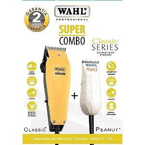 Super Combo  Wahl Classic 110v + Peanut Bivolt (Dois Anos de Garantia)