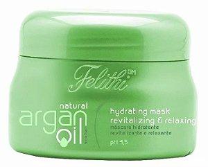 Felithi Natural Argan Oil Máscara Hidratante Revitalizante e Relaxante - 500ml