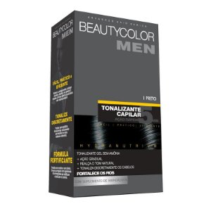 Tonalizante Capilar Gel Sem Amônia Beauty Color Men - Preto