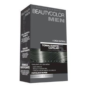 Tonalizante Capilar Gel Sem Amônia Beauty Color Men - Cinza Natural