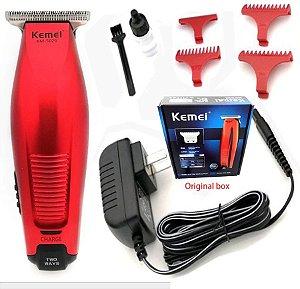 Máquina Kemei 5026 - Cabelo Barba Acabamento - Bivolt