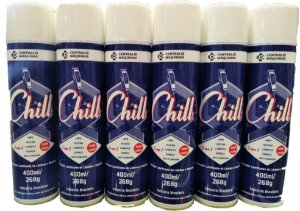 Resfriador Lubrificante de Lâminas e Máquinas Chill 5 em 1 (400ml) Pack com 6 Unidades