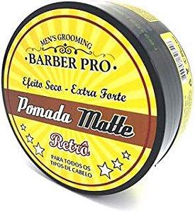 Pomada Modeladora Matte (efeito seco) - Extra Forte - Retrô - Barber Pro - 150g