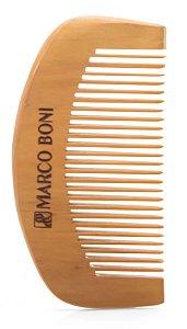 Pente de Madeira Marco Boni Para Barba e Bigode (ref.1360)