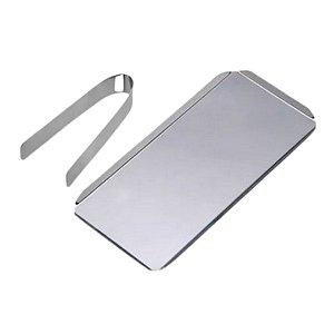 Kit Para Estufa Mega Bell Compact - Pinça e Bandeja em Aço Inox