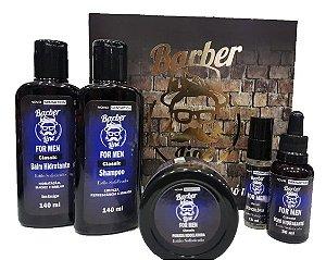 Kit Barber Line Classic (Shampoo + Balm + Óleo + Pomada Modeladora + Deo Colônia)