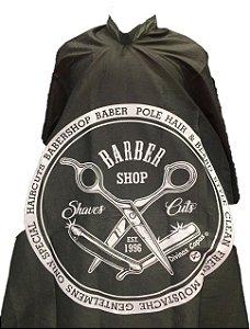 Capa de Corte em Tafetá - Barber Shop - Tam. Adulto (Padrão)