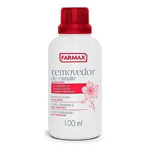 Removedor de Esmalte Sem Acetona - Com Vitamina E - Farmax 100ml