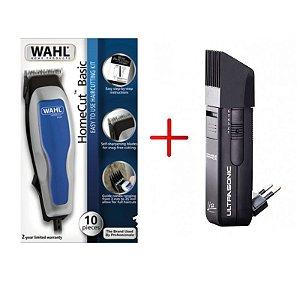 Kit Máquina de Corte Wahl Home Cut (110v) + Máquina de Acabamento Lizz Ultrasonic (Bivolt)