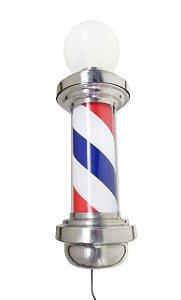 Barber Pole com Globo - Big Pole 85 cm - Acende e Gira - 110v