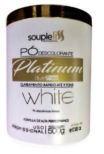 Pó Descolorante Platinum White - 500g - Souple Liss
