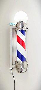 Barber Pole (Poste de Barbeiro) Acende e Gira 65 cm (110v ou 220v)