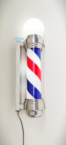 Barber Pole (Poste de Barbeiro) Acende e Gira 65 cm (220v)
