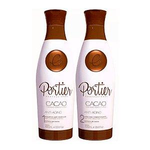Kit Escova Progressiva Portier Cacao Fine (2x 1L)
