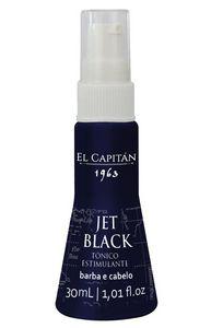 Tônico Estimulante para Barba e Cabelo El Capitán 1963 - Jet Black (30ml)
