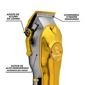 Máquina de Corte MQ Hair Force Brave Gold Series (Bivolt Sem Fio)