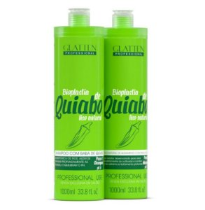 Escova Progressiva Glatten Professional - Bioplastia de Quiabo - 2x 1000 ml