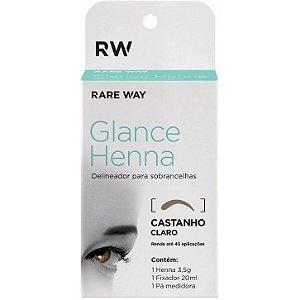 Delineador para Sobrancelhas Castanho Claro - Glance Henna - Rare Way
