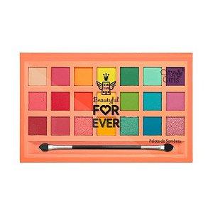 Paleta de Sombras 21 Cores - Beautyful For Ever - CG251- CIty Girl