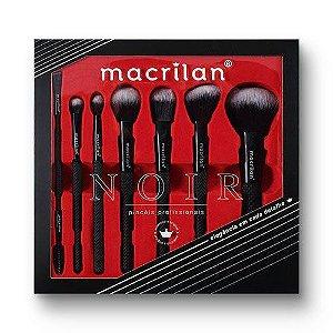 Kit com 7 Pincéis Profissionais Noir - ED009 - Macrilan
