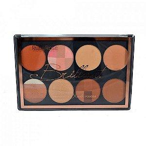 Paleta Brilliant Highlighter Blush Powder - HB-7231- Ruby Rose