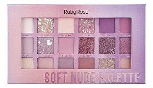 Paleta de Sombras 17 Cores - Soft Nude - HB-1045 - Ruby Rose