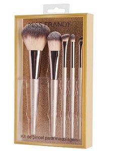 Kit com 5 Pincéis Profissionais - Miss Frandy