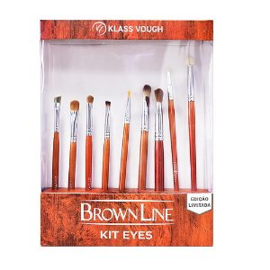 Kit de Pincéis Brown Line Eyes - Klass Vough