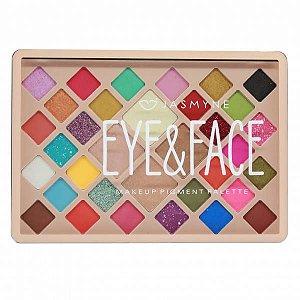 Paleta de Sombras 30 Cores 4 Iluminador - Eyes&Face - Jasmyne