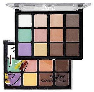Paleta de Corretivos 12 Cores - Dark - HB-8087 - Ruby Rose