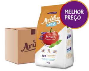 Aruba Snack Salgadinho - Tomate e Manjericão - Cx. 24 pacotes