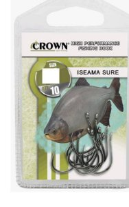 Anzol Crown Iseama Sure Preto COM 10 UNIDADES