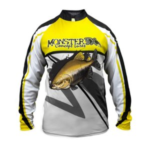 Camiseta De Pesca Monster 3x Tambaqui New Fish 02 Com Proteção Solar Uv