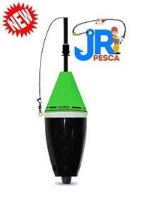 Boia Cevadeira Kuro Verde com Preto JR PESCA 52 gramas