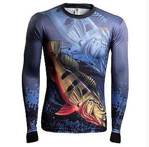 Camiseta De Pesca Brk Fishing Tucunare Açu 1.0 Uv 50 Tam Gg