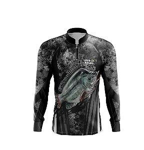 Camiseta De Pesca Proteção Solar 50+ Uv Mar Negro - Tilápia