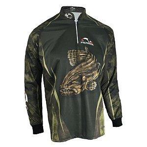 Camiseta De Pesca Faca Na Rede Combat Cs20 Traira