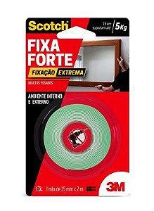 FITA FIXA FORTE DUPLA FACE  24MMX2M EXTREME 3M 20CM SUPORTE ATÉ 5KG OBJETOS PESADOS
