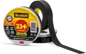 FITA ISOLANTE 20 METROS 3M SCOTCH 33+ PROFISSIONAL 19MMX20 M ESPESSURA 0,19MM