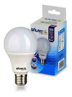 LAMPADA LED PERA 9W 6500K GALAXY