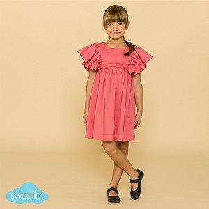 Vestido Infantil Violeta Rosa