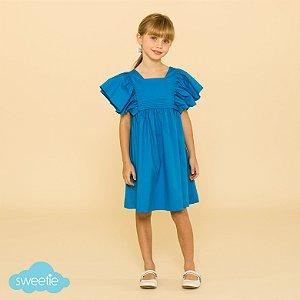Vestido Infantil Violeta Azul