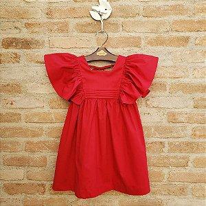 Vestido Infantil Violeta Vermelho