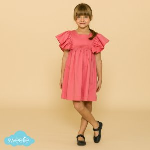 Vestido Infantil Violeta Rosa DEF