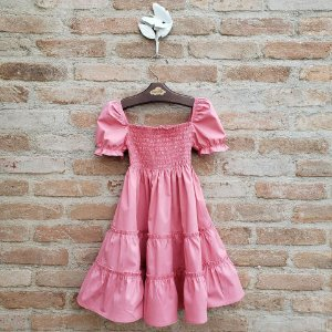 Vestido Infantil Verbena Goiaba