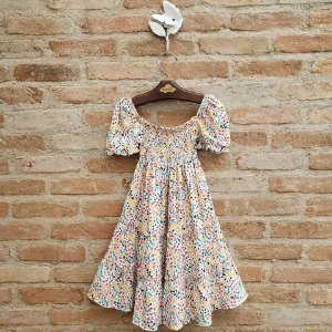 Vestido Infantil Viscose Verbena Florzinha